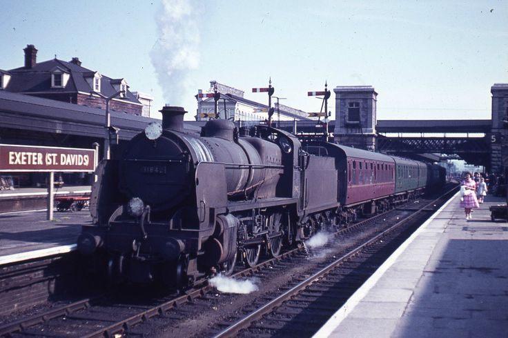 N Class 31842 at Exeter St. Davids in 1964