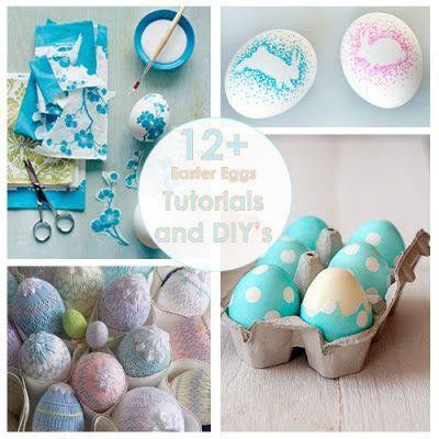 Oksana Plus Hobbies: 12 + Tutorials and DIYs: Easter Eggs (Рукодельный обзор №20: Пасхальные яйца)