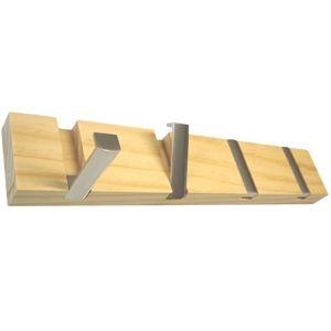 perchas pared madera haya natural con ganchos metal niquel abatibles comprar venta online hn percheros