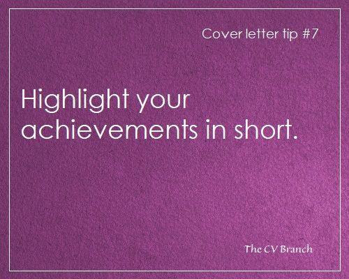 Cover letter tip #7