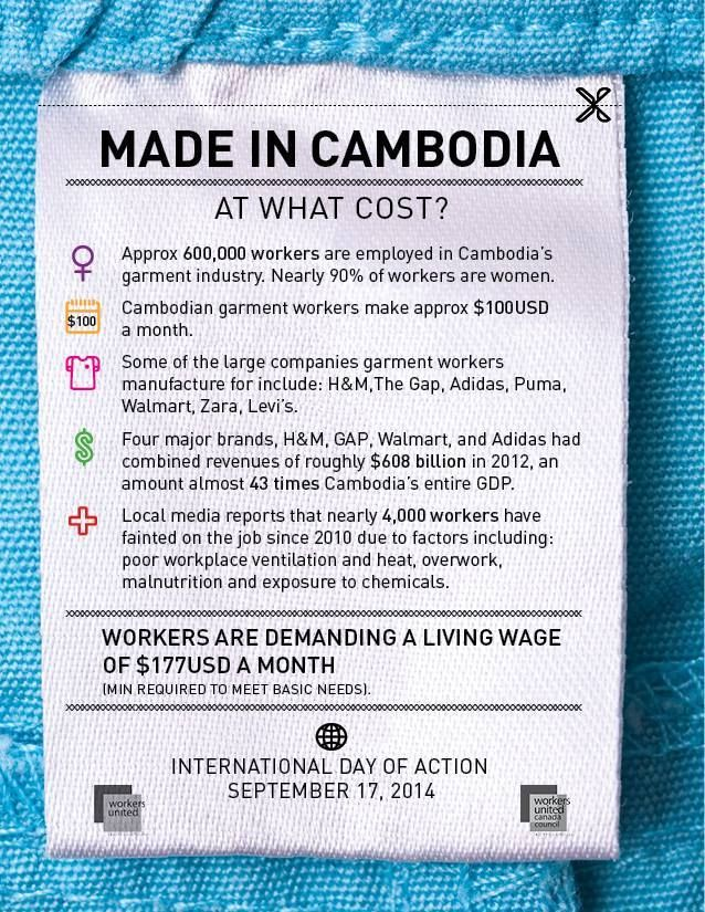 International action day of Cambodian garment workers' rights! #takeaction #sustainable  #fashion #clothes #trending #cambodia #workersrights #garment #international #sustainablefashion #equality