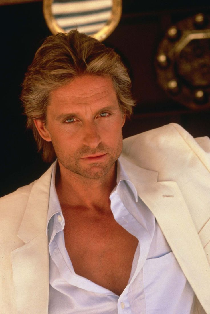 Michael Douglas - romancing the stone. Doesn't get more 80s than that hair and stare lol