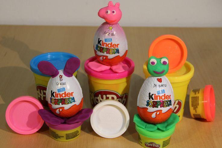 Surprise Eggs Kinder PlayDoh Opening Открываем яйца с сюрпризом