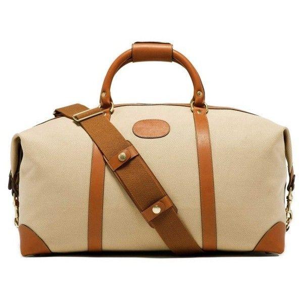 Men's Ghurka Cavalier Ii Twill Duffel Bag ($1,395) ❤ liked on Polyvore featuring men's fashion, men's bags, khaki twill, men's duffel bags, mens bag and mens duffle bags