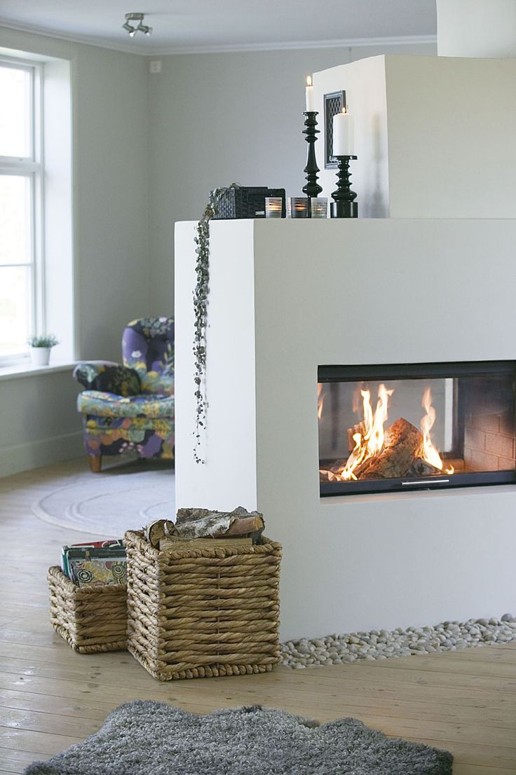 fireplace, perfect for a cottage after a winter walk along the beach