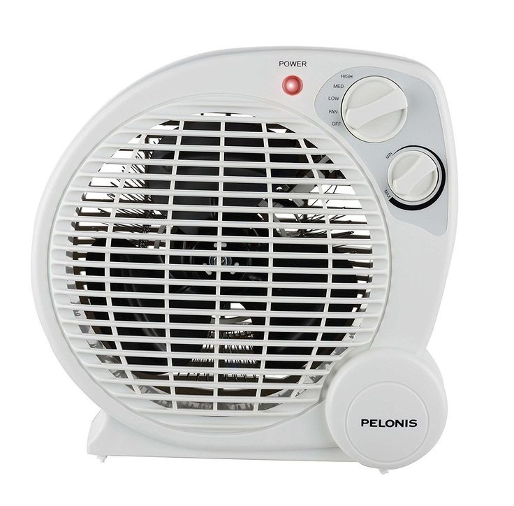 Pelonis HB‑211T 1,500‑Watt Fan Compact Personal HB-211T Portable Space Heater Model with Automatic Safety Shutoff - APR