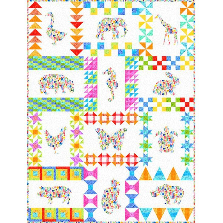 Floral Menagerie BOM Quilt Patttern by In The Beginning | Quilting | Fabric