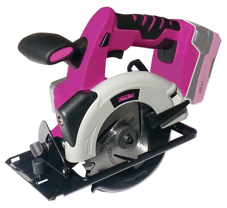 The Original Pink Box Cordless 18-Volt Lithium Ion Cordless Saw - Tools - Cordless Handheld Power Tools - Circular Saws