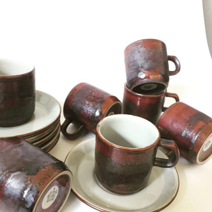 Danish/Desiree/Thule/coffee cups/saucers/set of 6/vintage/scandinavian modern by WifinpoofVintage on Etsy
