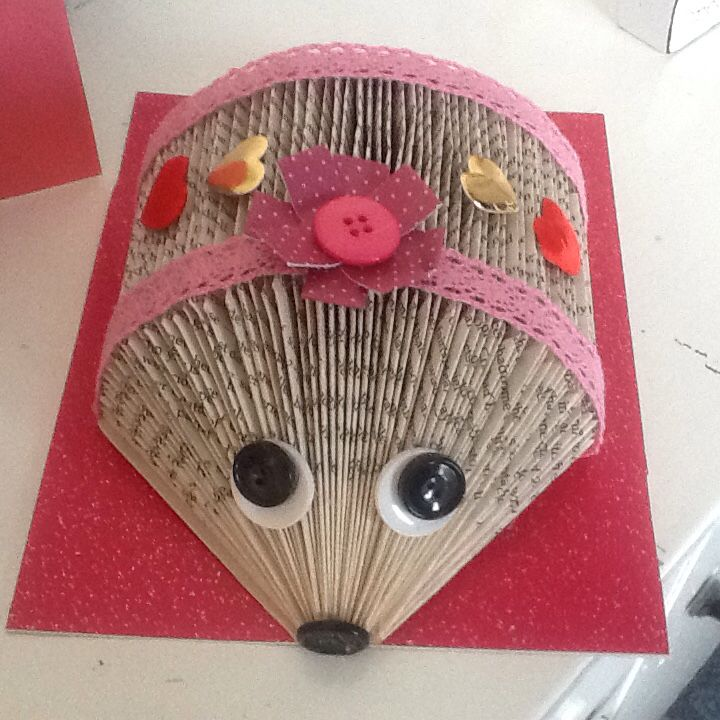 Love it! My hedgehog book folding! | Craftz