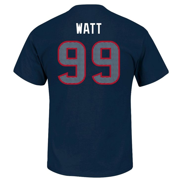 Houston Texans JJ Watt Men's Short Sleeve Athletic Ring Spun Player Jersey T-Shirt X