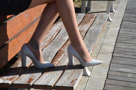 ZARA White heels  http://sandrafashiondiary.es