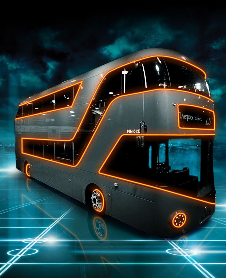 """Off the grid with the Tron bus ~ Miks' Pics """"Trucks and Buses"""" board @ http://www.pinterest.com/msmgish/trucks-and-buses/"""