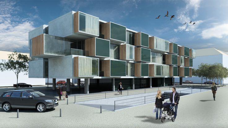 Santa Catarina Fortress - Orrizont Housing - Aveiro by RVDM, arquitectos  by RVDM, arquitectos