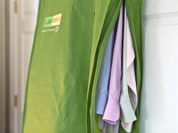 Green Garmento - Reusable Dry Cleaning Bag | Hanging Garment Bag | Hanging Laundry Bag  Hamper