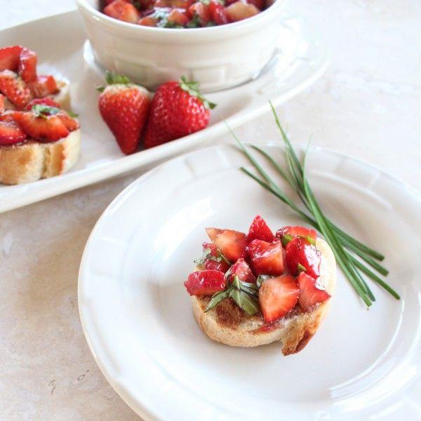 Strawberry Balsamic Bruschetta - Little Leopard Book