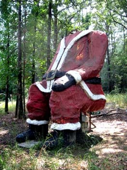 Santa land- abandoned park, Texas. 2012