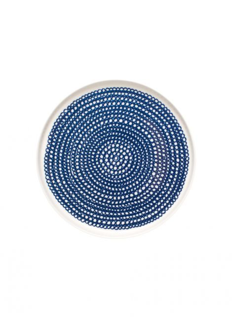 Oiva/Siirtolapuutarha plate (white,blue) |Décor, Kitchen & Dining, Dinnerware, Lautaset | Marimekko