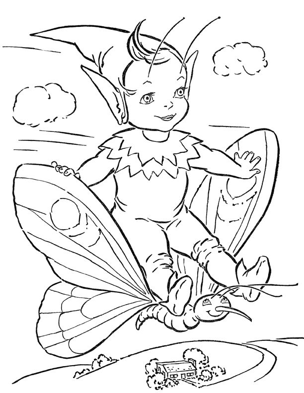 Adorable Fairy Coloring Page Printable Fairy Coloring Fairy