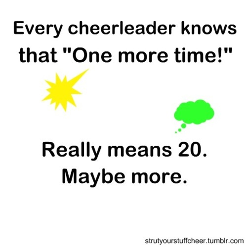 Absolutely... One more time correctly, in sync and with as much energy as you can give!!!! And then we will do it one more.. LOL