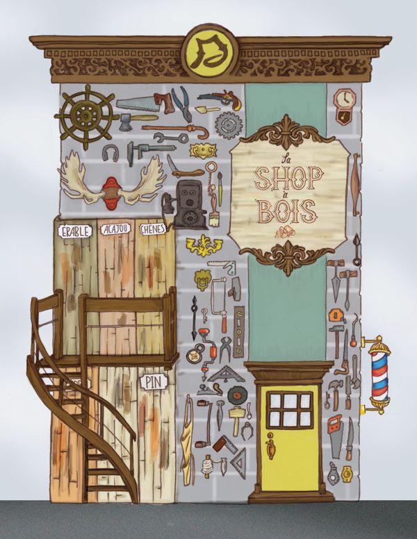 La shop à bois - Façade de magasin interactive on Behance
