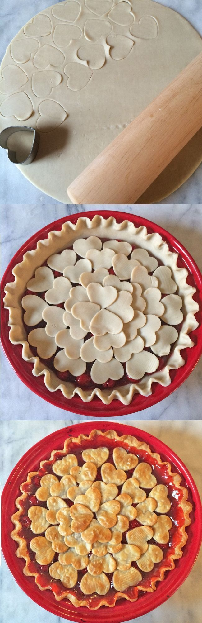 Valentine Cherry Pie. The perfect dessert to make for your Valentine!