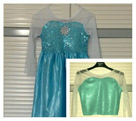 Elsa dress makeover - part 1 #elsa #queenelsa #frozen #sewing