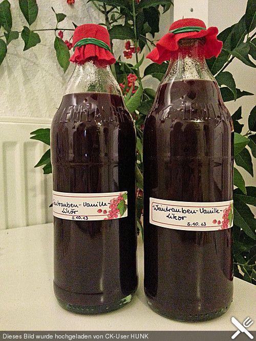 Weintrauben - Vanille - Likör