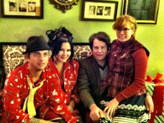 billie joe adie jason white and his wife janna - Green Day Christmas