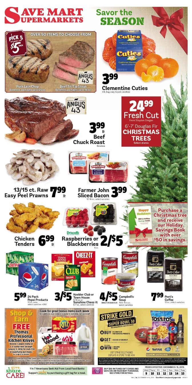 Save Mart Ad Dec 9 - 15, 2015 - http://www.kaitalog.com/save-mart-weekly-ad.html