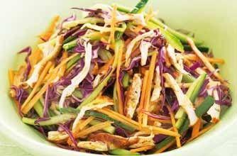 Tony Ferguson lemon spice chicken salad - 150 family dinners under 500 calories