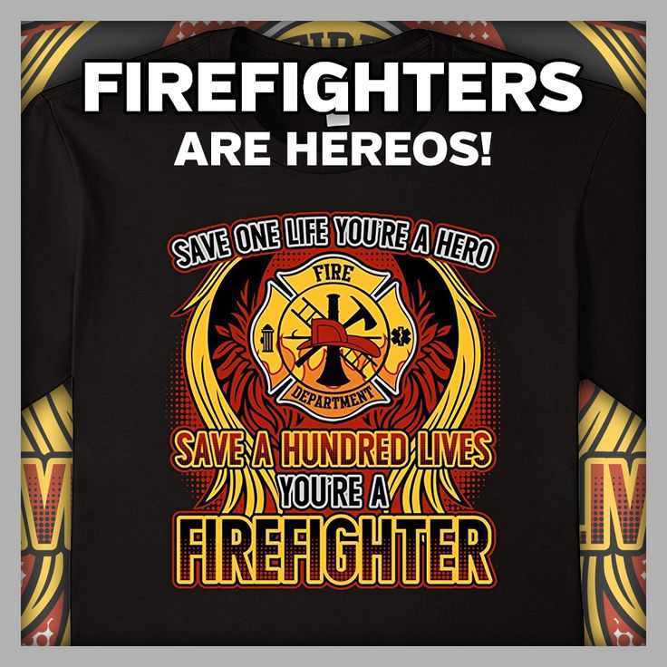 Great #firefighter gift for your favorite volunteer, active duty and retired hero!  Firefighter Save a Life #Hero T-shirts