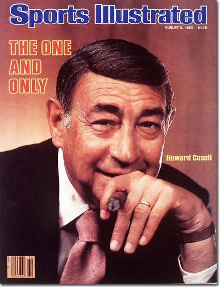 As Howard Cosell himself noted, he never played the game. Yet, Cosell remains one of the most beloved and iconic sports broadcasters of all time. During his long broadcasting career, Cosell became renowned for his sports journalism, his many interviews with Muhammad Ali, and his commentary during Monday Night Football broadcasts. TV Guide, in 1993, ranked Cosell as the all-time best sportscaster and in 1996 ranked him 47th among the 50 greatest TV stars of all time.
