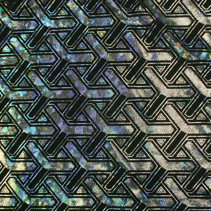 Mynecraft Hologram Stretch Spandex   Shine Trimmings & Fabrics