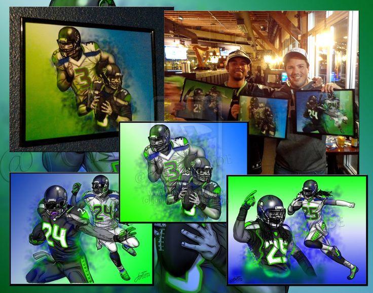 custom seahawk art | Seahawks Playoffs Artwork by jonnyyG