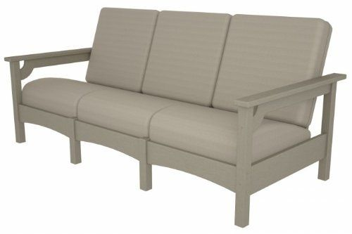 Club Sofa in Sand by POLY~WOOD, Inc.. $1703.99. Poly-Wood lumber requires no painting, staining, waterproofing, or similar maintenance. Eco-friendly product with over 90% recycled materials. Solid, heavy-duty construction withstands nature's elements. Constructed of durable HDPE Poly-Wood lumber that provides the look of painted wood without the. Poly-Wood lumber does not splinter, crack, chip, peel or rot and it is resistant to. mfr: POLY~WOOD, Inc. Expand the seat...