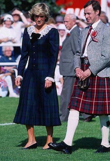 1987-08-22 Diana at the Bute Highland Games in Scotland