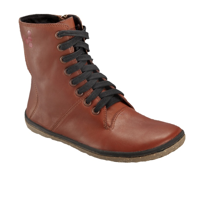 VIVOBAREFOOT | The original barefoot shoe | Barefoot Running | Barefoot Shoes | Boxing Boot | Boxing Boot Pull Up Leather Red Brown