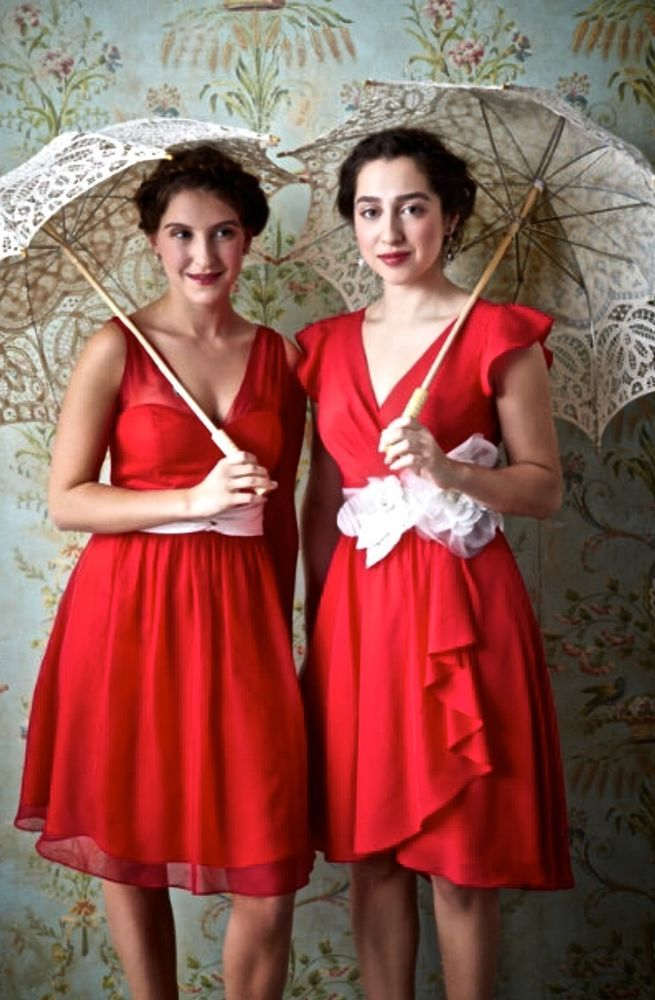 New Anthropologie BHLDN Hitherto Ainsley Red Dress chiffon fit & flare 8  #Hitherto #fitflaredress #Festive