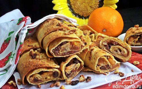 Ленивый апельсиновый штрудель из тортильи | Кулинарные рецепты от «Едим дома!»