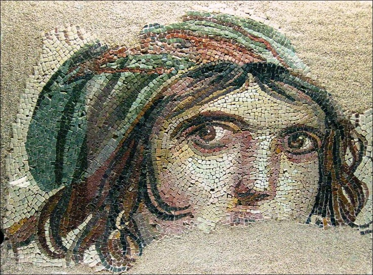 mosaic of Gipsy woman,  Urfa Turkiye