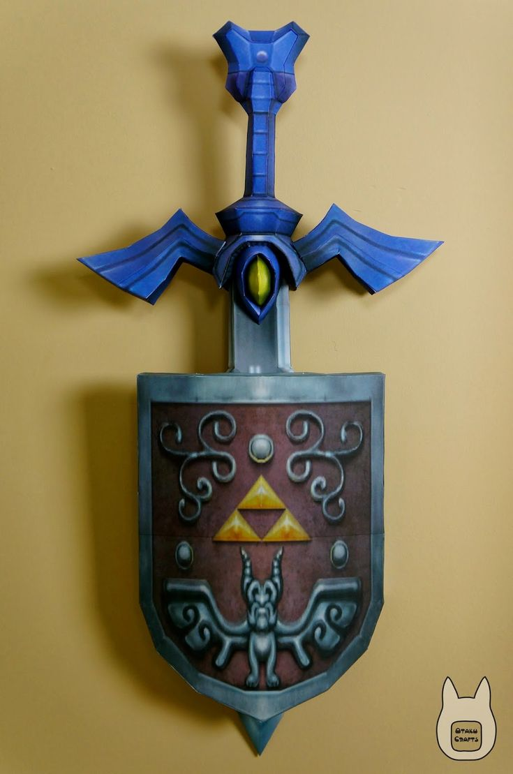 Otaku crafts wind waker master sword shield wall for Decoration zelda