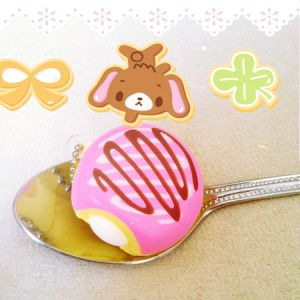squishy bun bread pink drizzle squeeze toy kawaii online shop australia cute