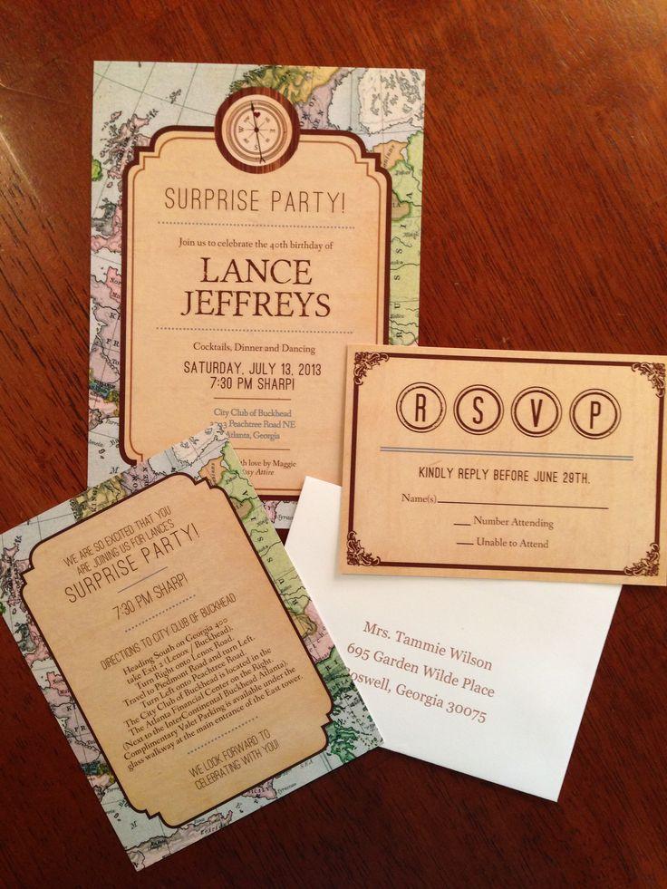 travel themed birthday invitations