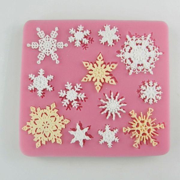 翻糖蛋糕烘焙模具 雪花翻糖模具 蕾丝花硅胶垫模具 巧克力模具-淘宝网
