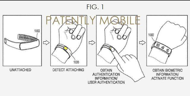 Nueva patente muestra un Samsung Gear Fit con sensor de huella dactilar   Samsung habría introducido una patente que permitiría todo un nuevo sistema de identificación biométrica en la pulsera estrella de la compañía.    Samsung ha presentado una nueva idea en la Oficina de Patentes y Marcas de EE.UU. Se trata de una tecnología biométrica que puede ser aplicada tanto para pulseras del estilo Gear Fit como para gafas de realidad virtual Gear VR.  El reporte de Patently Mobile explica que…