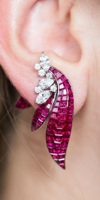 Modern diamond and ruby jewelry design by Stenzhor… – #Design #Diamond #jewele…