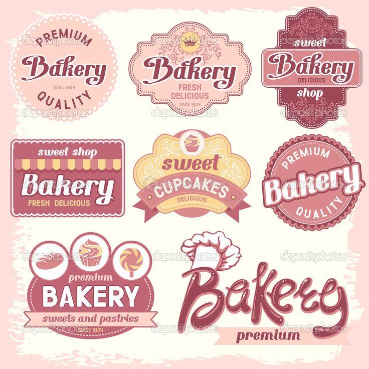 Vintage bakery badges and labels #design #vector #eps Download: http://depositphotos.com/29990037/stock-illustration-bakery-labels.html?ref=5747528