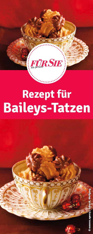 Rezept für Baileys-Tatzen - Plätzchen zu Weihnachten