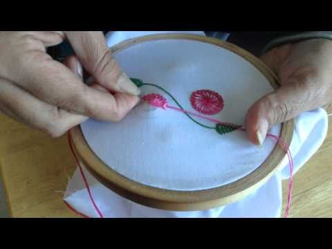 Hand Embroidery: Chemanthy Work Embroidery - YouTube